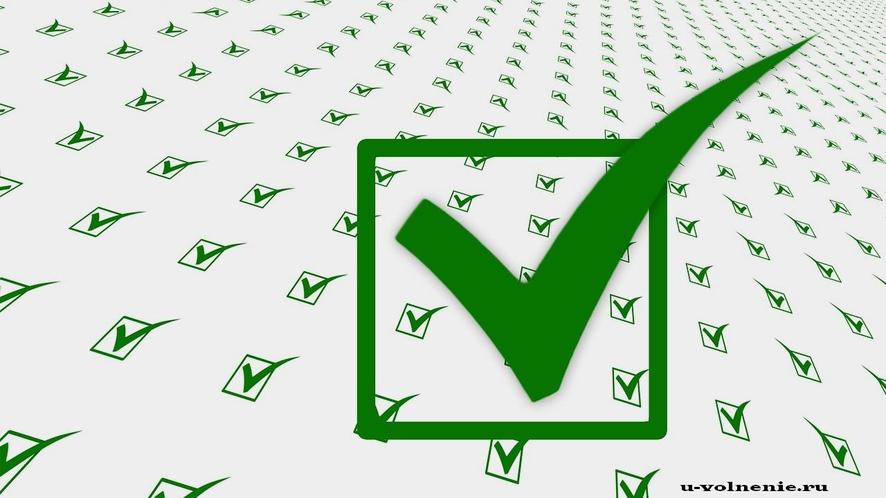 зеленая галочка список чеклист