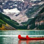 лодки озеро и горы