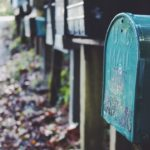 почтовый ящик синий