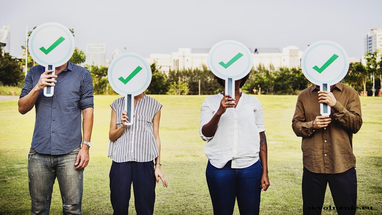 выборы люди с табличками