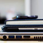 стопка ноутбук планшет блокнот телефон