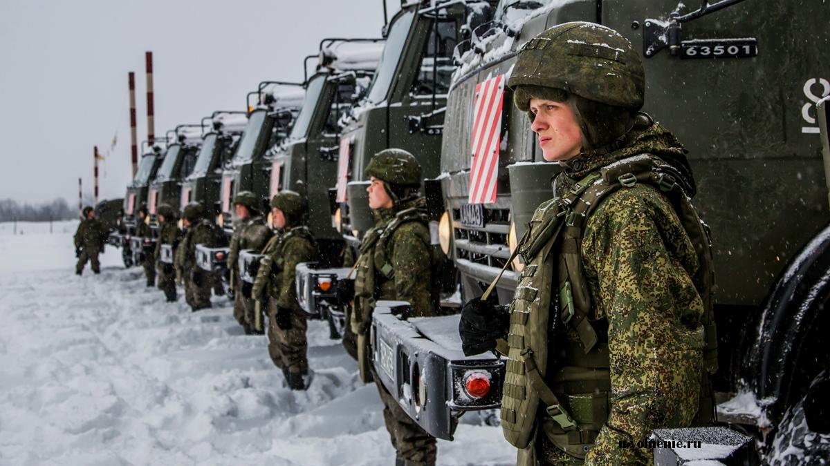 зима военные техника